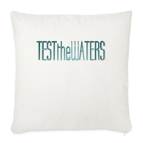 TESTtheWATERS BETA BLUE - Sofa pillowcase 17,3'' x 17,3'' (45 x 45 cm)