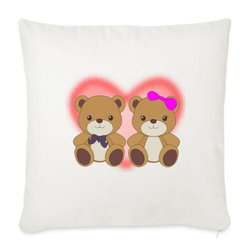 Orsetti con cuore - Copricuscino per divano, 45 x 45 cm