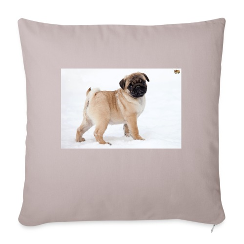 walker family pug merch - Sofa pillowcase 17,3'' x 17,3'' (45 x 45 cm)