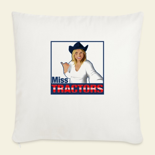 Miss Tractors Logo - Copricuscino per divano, 45 x 45 cm