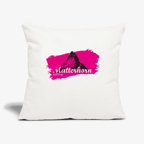Matterhorn - Matterhorn in pink - Sofa pillowcase 17,3'' x 17,3'' (45 x 45 cm)