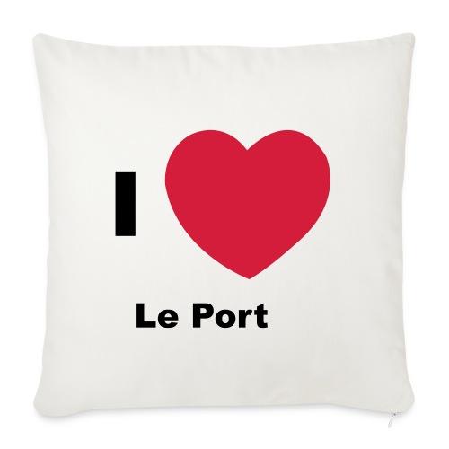 i love le port - Housse de coussin décorative 45x 45cm