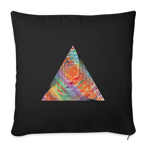 Triangle of twisted color - Sofa pillowcase 17,3'' x 17,3'' (45 x 45 cm)