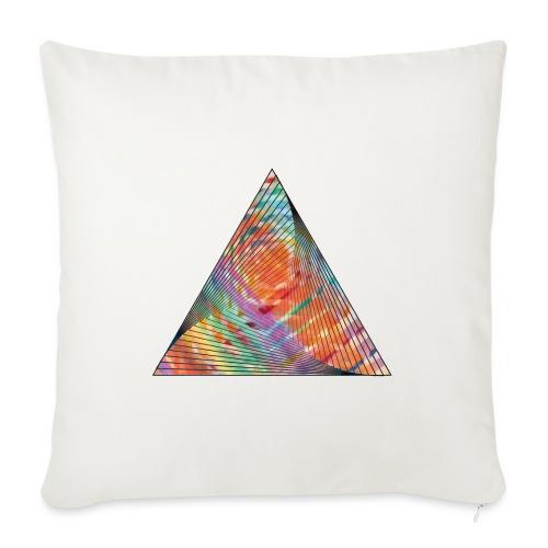 Triangle of twisted color - Sofa pillowcase 17,3'' x 17,3'' (45 x 45 cm)