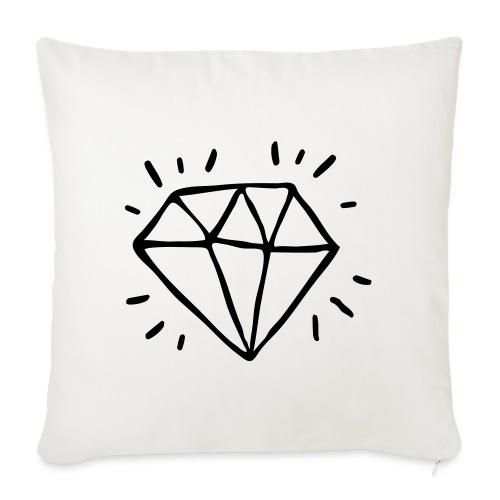 diamant - Housse de coussin décorative 45x 45cm