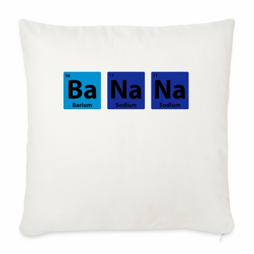 Periodic Table: BaNaNa - Sofa pillowcase 17,3'' x 17,3'' (45 x 45 cm)