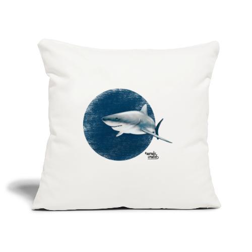 witte haai - Housse de coussin décorative 45x 45cm