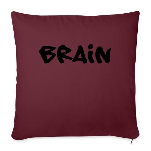 brain schriftzug - Sofakissenbezug 44 x 44 cm
