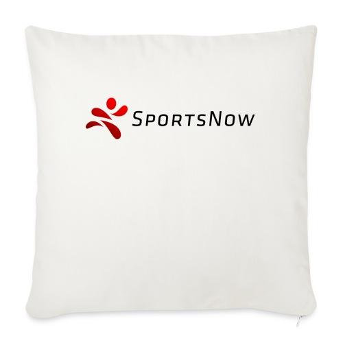 SportsNow-Logo mit schwarzer Schrift - Sofakissenbezug 44 x 44 cm