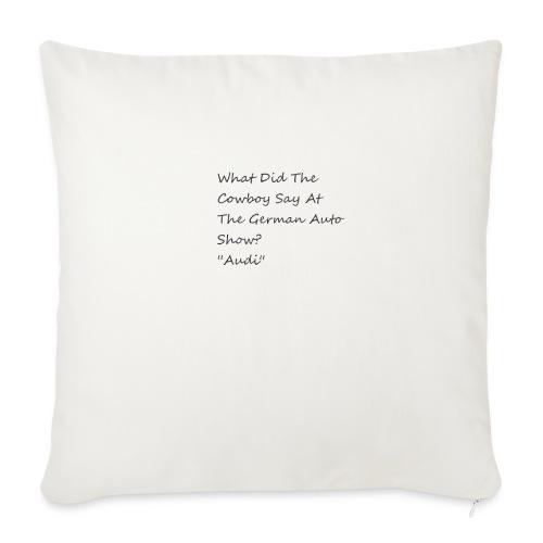 Car Joke - Sofa pillowcase 17,3'' x 17,3'' (45 x 45 cm)