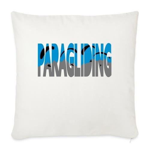 Paragliding Letters - Sofa pillowcase 17,3'' x 17,3'' (45 x 45 cm)