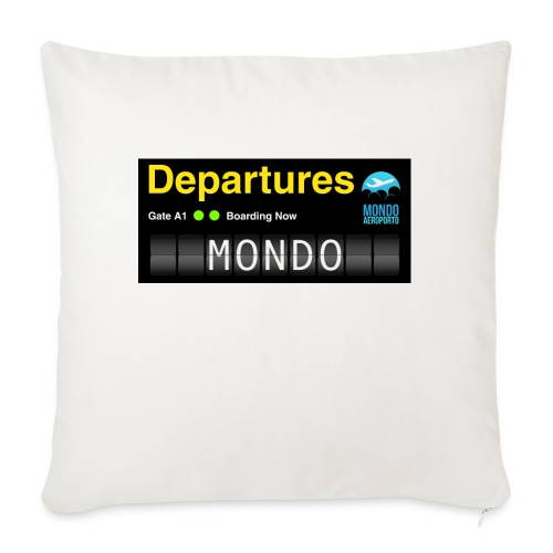 Departures MONDO jpg - Copricuscino per divano, 45 x 45 cm
