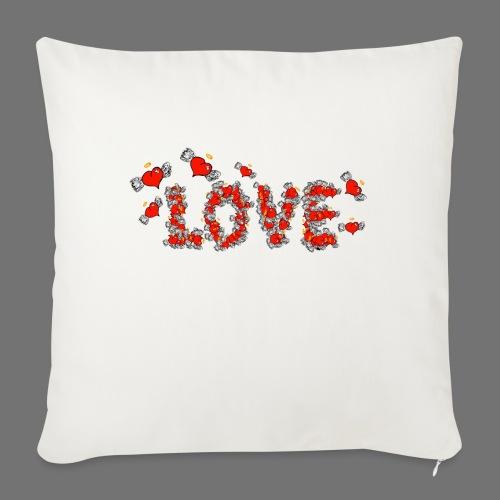Fliegende Herzen LOVE - Sofakissenbezug 44 x 44 cm