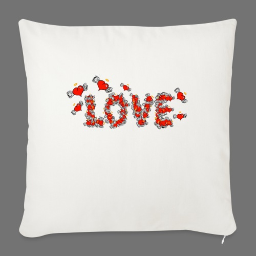 Flying Hearts LOVE - Sofa pillowcase 17,3'' x 17,3'' (45 x 45 cm)