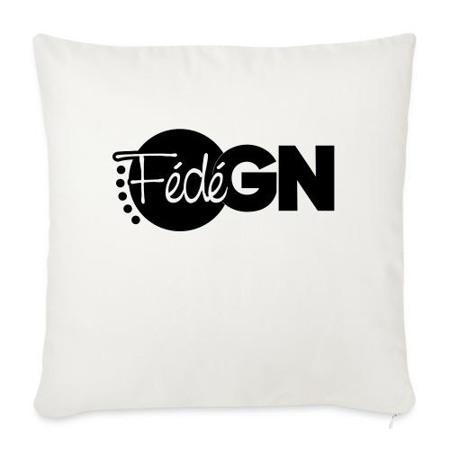 Logo FédéGN pantone - Housse de coussin décorative 45x 45cm