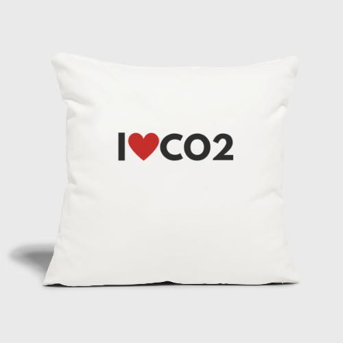 I LOVE CO2 - Sohvatyynyn päällinen 45 x 45 cm