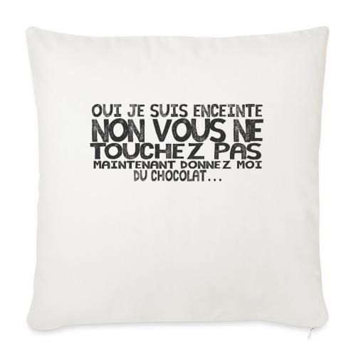 T-Shirt-Femme-Enceinte-Chocolat - Housse de coussin décorative 45x 45cm