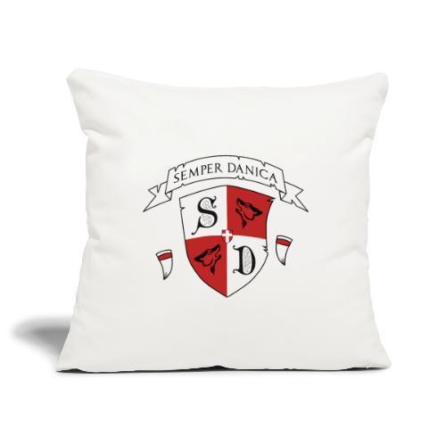 SD logo - hvide lænker - Pudebetræk 45 x 45 cm