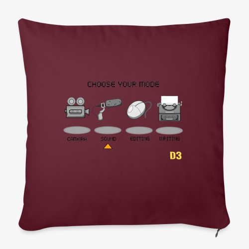 Sound/Black- Choose Your Mode - Sofa pillowcase 17,3'' x 17,3'' (45 x 45 cm)
