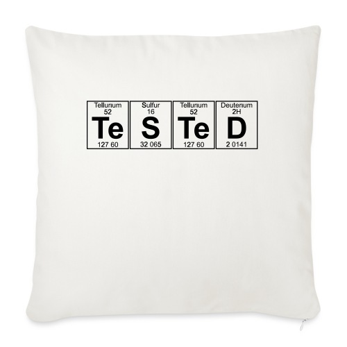 Te-S-Te-D (tested) (small) - Sofa pillowcase 17,3'' x 17,3'' (45 x 45 cm)