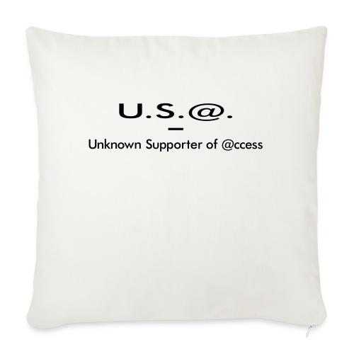 U.S.@. - Unknown Supporter of @ccess - Sofakissenbezug 44 x 44 cm