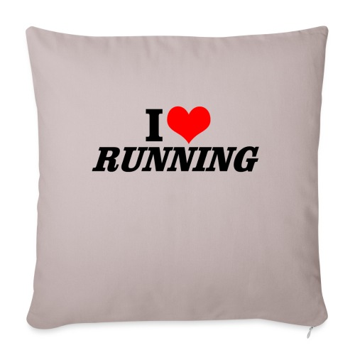 I love running - Sofakissenbezug 44 x 44 cm