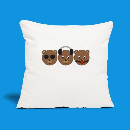 3 Wise Bears - Sofa pillowcase 17,3'' x 17,3'' (45 x 45 cm)