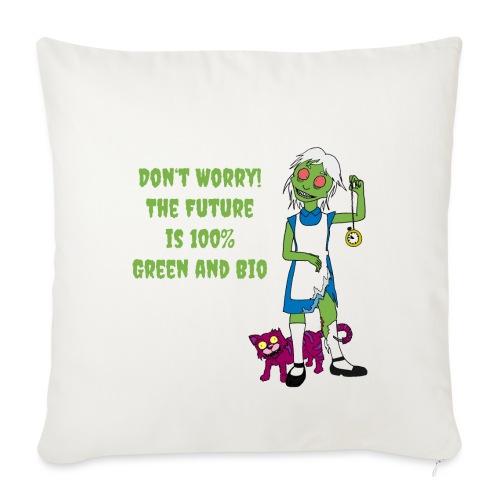 Future Green and Bio - Sofa pillowcase 17,3'' x 17,3'' (45 x 45 cm)