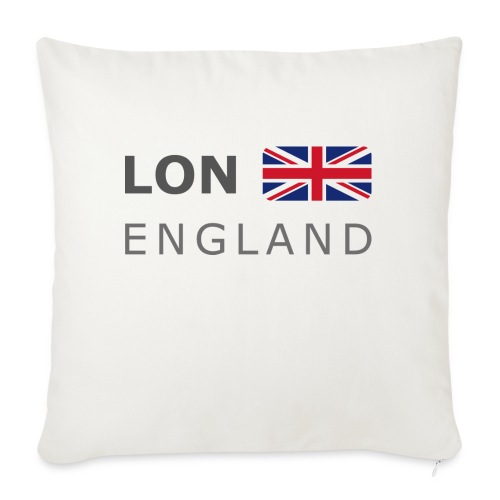 LON ENGLAND BF dark-lettered 400 dpi - Sofa pillowcase 17,3'' x 17,3'' (45 x 45 cm)