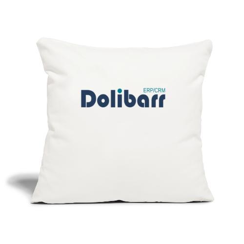 Dolibarr Logo new blue - Housse de coussin décorative 45x 45cm