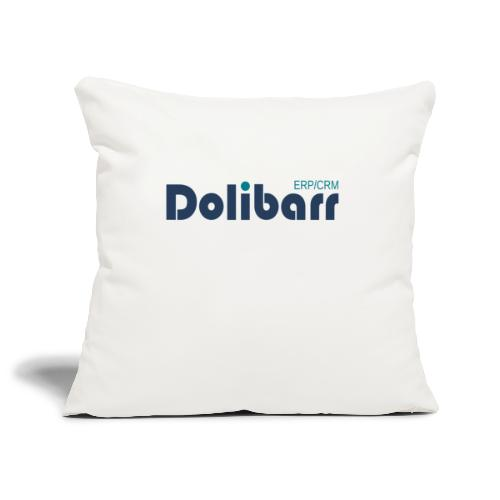 Dolibarr Logo new blue - Sofa pillowcase 17,3'' x 17,3'' (45 x 45 cm)
