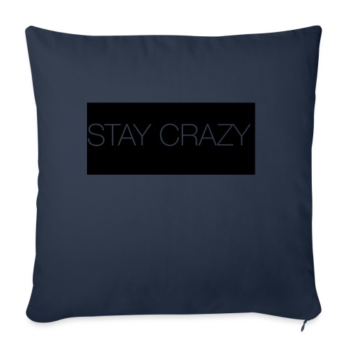 STAY CRAZY - Soffkuddsöverdrag, 45 x 45 cm