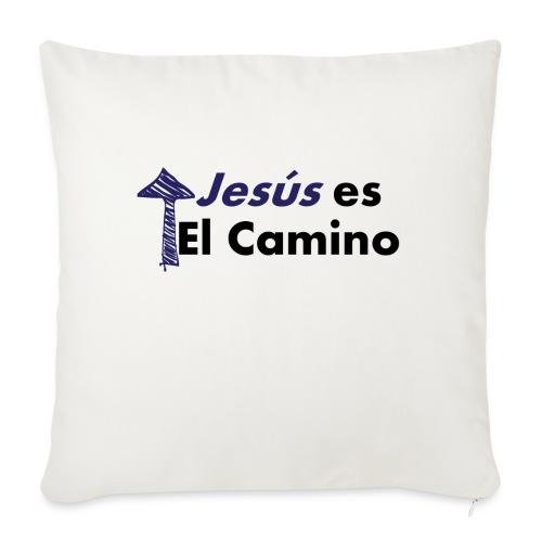 jesus el camino - Funda de cojín, 45 x 45 cm