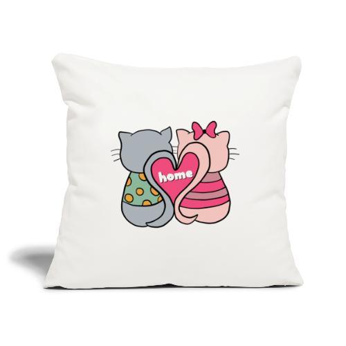 Cats - Sofa pillowcase 17,3'' x 17,3'' (45 x 45 cm)