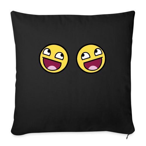 Boxers lolface 300 fixed gif - Sofa pillowcase 17,3'' x 17,3'' (45 x 45 cm)