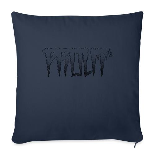 Horror PROUT - black - Sofa pillowcase 17,3'' x 17,3'' (45 x 45 cm)