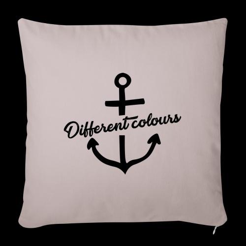 Different Colours Black Logo - Copricuscino per divano, 45 x 45 cm