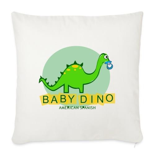 American Spanish Baby Dino - Funda de cojín, 45 x 45 cm