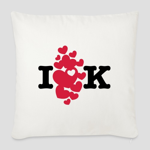 I love K very much - Sofakissenbezug 44 x 44 cm