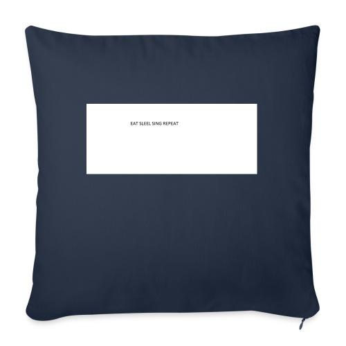 eat sleep sing - Sofa pillowcase 17,3'' x 17,3'' (45 x 45 cm)