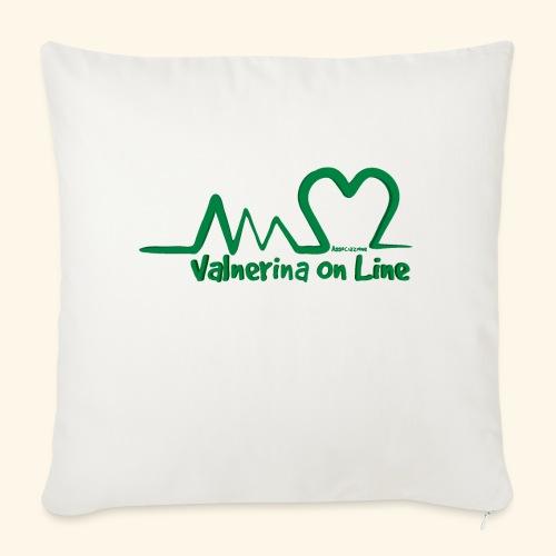 logo verde Associazione Valnerina On line - Copricuscino per divano, 45 x 45 cm