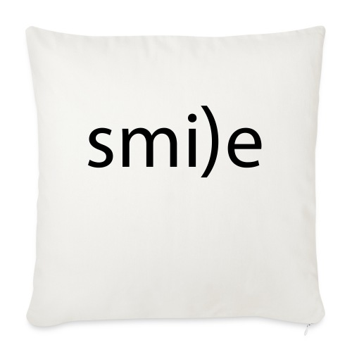 smile Emoticon lächeln lachen Optimist positiv yes - Sofa pillowcase 17,3'' x 17,3'' (45 x 45 cm)