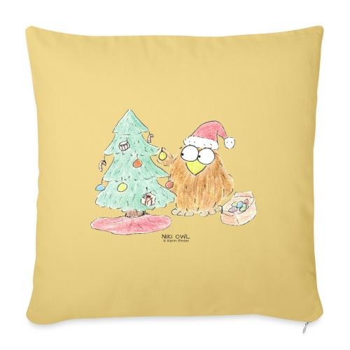 Niki Owl Arbol Navideño - Sofa pillowcase 17,3'' x 17,3'' (45 x 45 cm)
