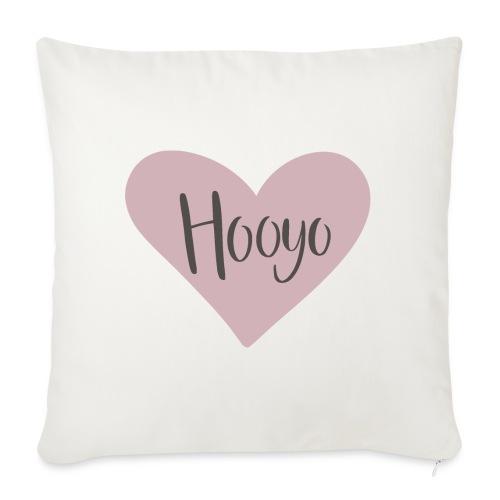 Hooyo - hjärta - Soffkuddsöverdrag, 45 x 45 cm