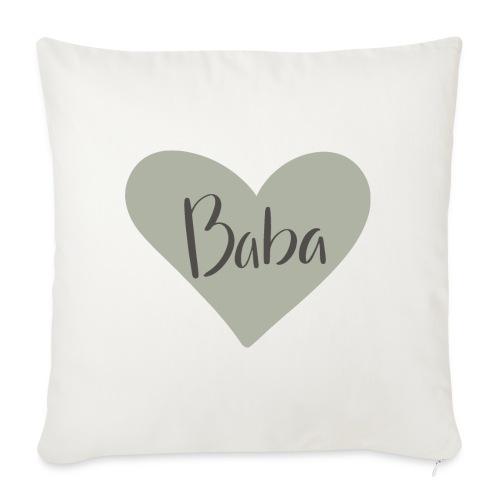 Baba - hjärta - Soffkuddsöverdrag, 45 x 45 cm