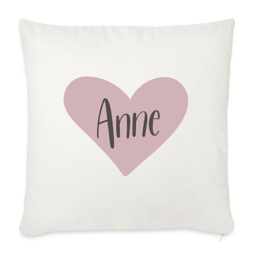 Anne - hjärta - Soffkuddsöverdrag, 45 x 45 cm