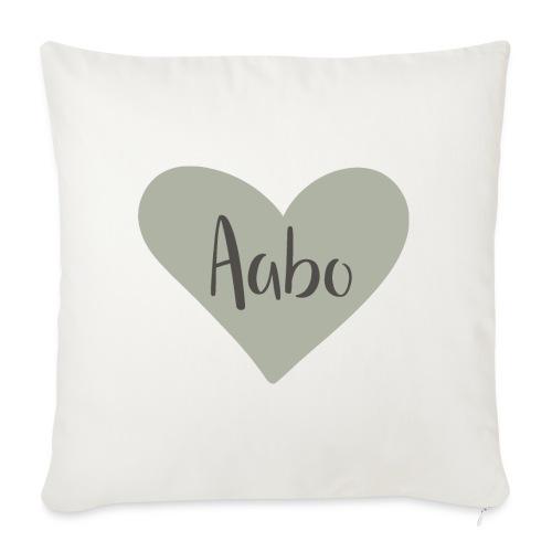 Aabo - hjärta - Soffkuddsöverdrag, 45 x 45 cm