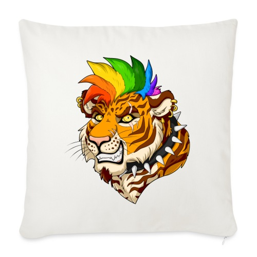 Punk Tiger - Poszewka na poduszkę 45 x 45 cm