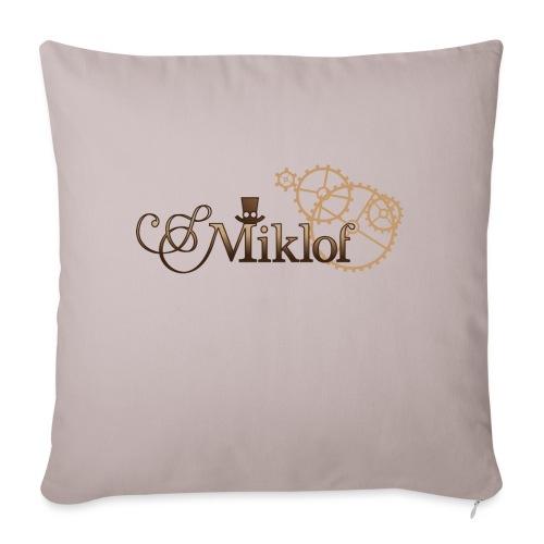 miklof logo gold wood gradient 3000px - Sofa pillowcase 17,3'' x 17,3'' (45 x 45 cm)