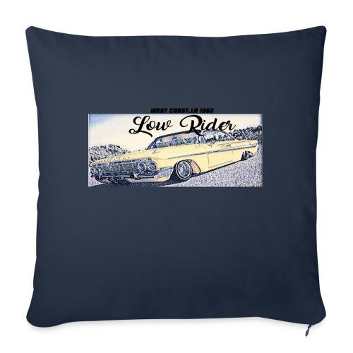 Lowrider impala 1963 vato loco west coast tshirt - Sofa pillowcase 17,3'' x 17,3'' (45 x 45 cm)